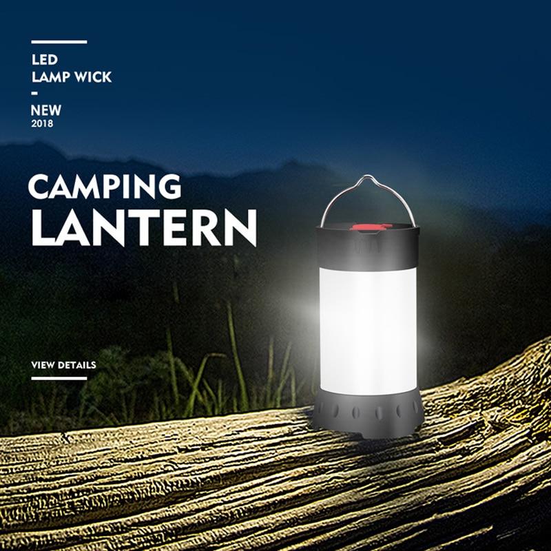 Magnetico Portatile Bianco Rosso Lanterna di Campeggio 5 Livello di Luminosità Appeso Tenda usb ricaricabile Di Emergenza della Torcia Elettrica + 18650 Batteria