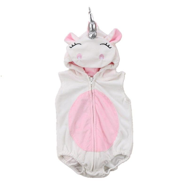 Unicorn Baby Kids Girl Zipper Romper Fleece Jumpsuit Outfits