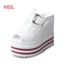 Free Shipping Womens Sandals Flat Summer 2018 Wedge Platform Ladies High Heel Gladiator Slipper Sandalen Dames
