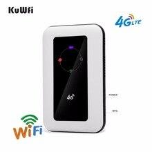 KuWFi 150Mbps extérieur débloqué 4G poche WiFi routeur avec 2400mAh batterie emplacement pour carte Sim prise en charge LTE FDD B1/B3 jusquà 10 utilisateurs