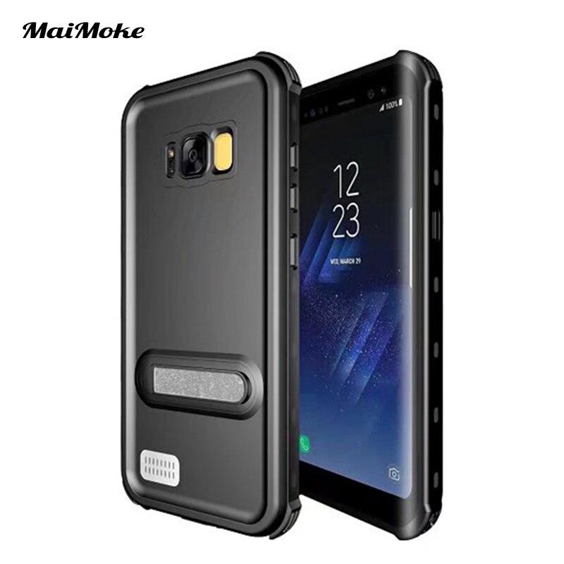 Цена за MaiMoke Мода Для Samsung S8 Случае Водонепроницаемый 360 Полная Защита для Samsung galaxy S8 Плюс Чехол Защищает Все Грязь Телефон случаях