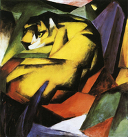 High quality Oil painting Canvas Reproductions Tiger 1912 By Franz Marc hand painted