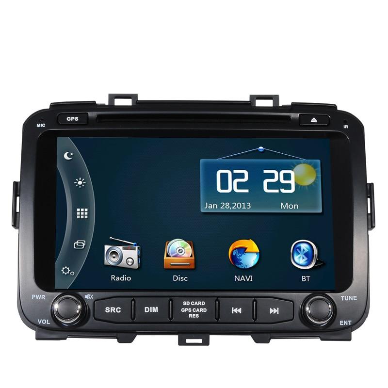 Free Ship Car DVD Player GPS Navigation System for Kia Carens 2013 2014 2015 SD USB