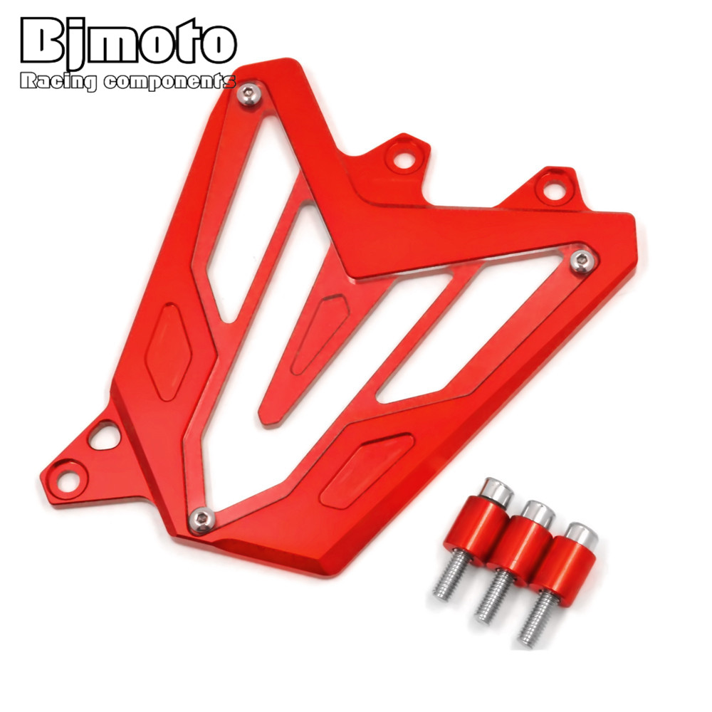 BJMOTO For Yamaha MT07 2013 2014 2015 2016 FZ07 2015 2016 Red CNC Front Sprocket Guard Chain Cover Left Side Engine