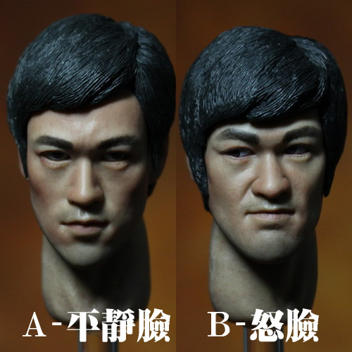 1/6 scale figure accessories head Bruce Lee Head shape Head carving for DIY12 action figure doll headsculpt 1 6 scale soldier enter the dragon bruce lee opponent mr han shi jian clothes set free head carving