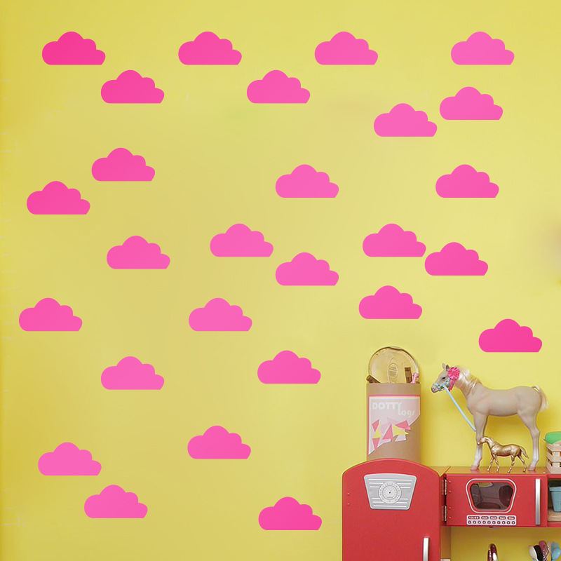 Little Gold Cloud Wall Decal Stickers Kids Room Decor, Removable ...