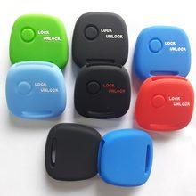 Um 1 botão remoto caso chave capa de silicone jaqueta para suzuki moko wagon r para mazda para nissan pino keyless fob