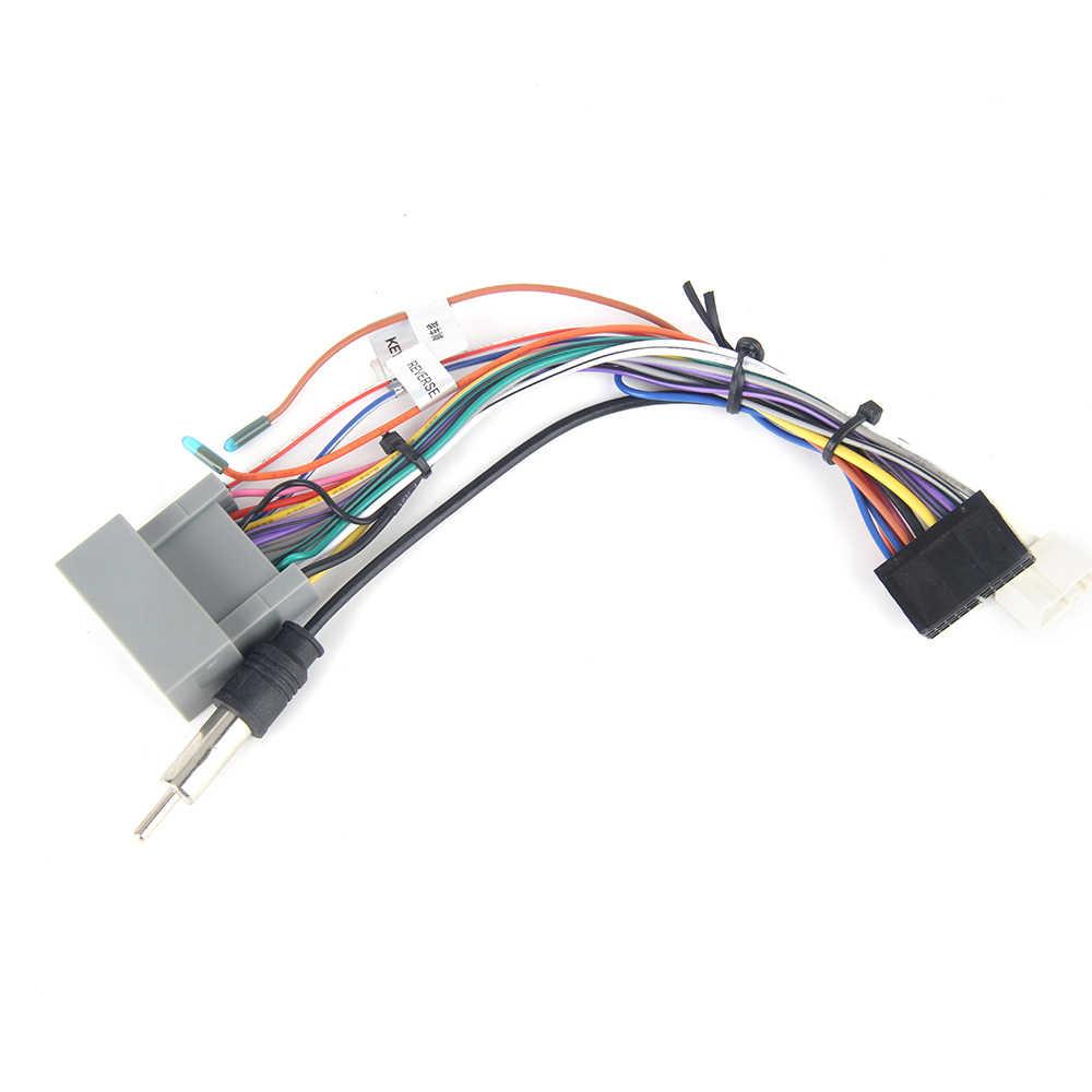 dasaita dyx017 car radio stereo wiring harness adapter with radio antenna adapter for honda jazz fit [ 1000 x 1000 Pixel ]