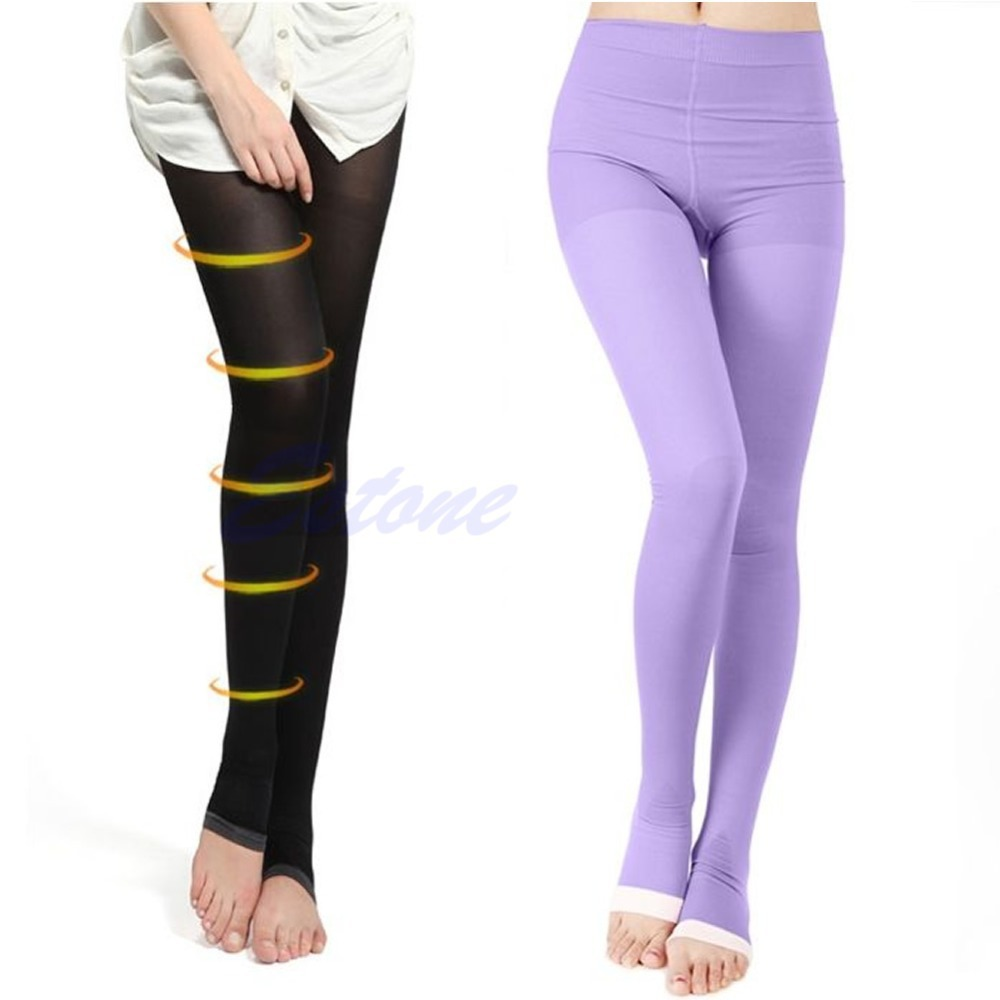 Women Beauty Slim Sleeping Leg Shape Compression Burn Fat Thin Socks Pantyhose