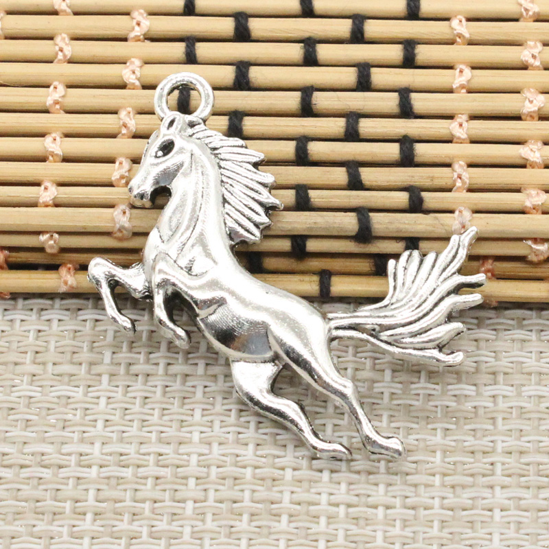 10pcs Charms running horse 51*32mm Tibetan Silver Plated Pendants Antique Jewelry Making DIY Handmade Craft