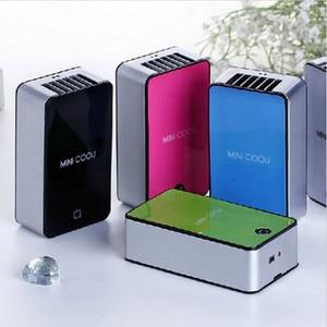 Image 3 - Mini Portable Bladeless Fan Cooler Cooling USB Rechargeable Battery Bladeless Fan Air Condicionado Ventilador