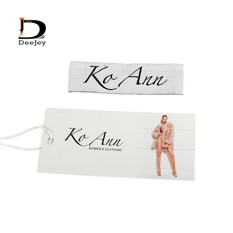 Super valore di corrispondenza di marca etichetta personalizzata tag per abbigliamento etichetta tessuta e appendere tag e mauanl tagging strings 3000 pz lotto-in Etichette per indumenti da Casa e giardino su  Gruppo 1