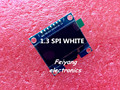 "1PCS 1.3"" OLED module white color SPI 128X64 1.3 inch OLED LCD LED Display Module For Arduino 1.3"" SPI Communicate"