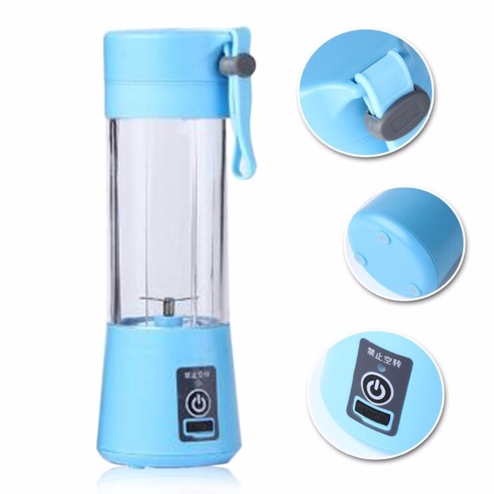 Portable Juicer Rechargeable Battery Portable Radio New Zealand Best Portable Air Compressor For Jeep Wrangler Portable Electric Air Compressor For Car Tires: 380ml USB Electric Fruit Juicer Machine Portable Blender