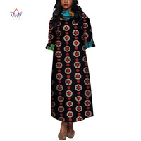2019 Wholesale African Dresses for Women Dashiki Ropa Africa Traditional African Robe Long African Print Dresses WY4012