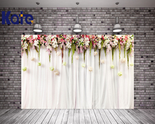цена на Kate 10x10ft Flower Wedding Party Photo Backdrop White Curtain Cloth Backdrops Washable Microfiber Photographic Background