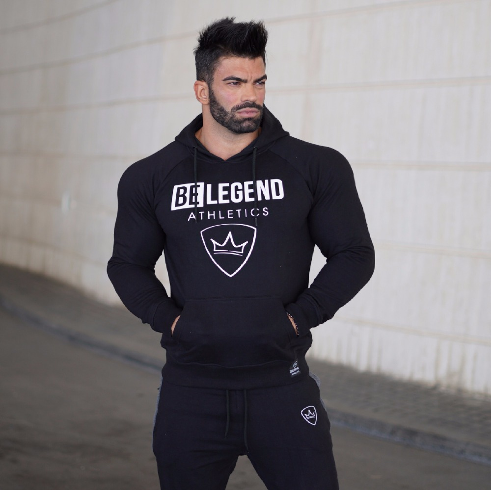2018 Spring Hoodies Men Long Sleeve Loose Sweatshirts Fashion Solid Gyms Streetwear Pullover Sportswear High Quality Beautiful In Colour