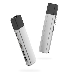 Image 2 - EASYA adaptador Thunderbolt 3 tipo C con USB a HDMI, puerto de USB C Rj45 de 1000M con datos PD, puerto USB 3,0 para MacBook Pro/Air 2018