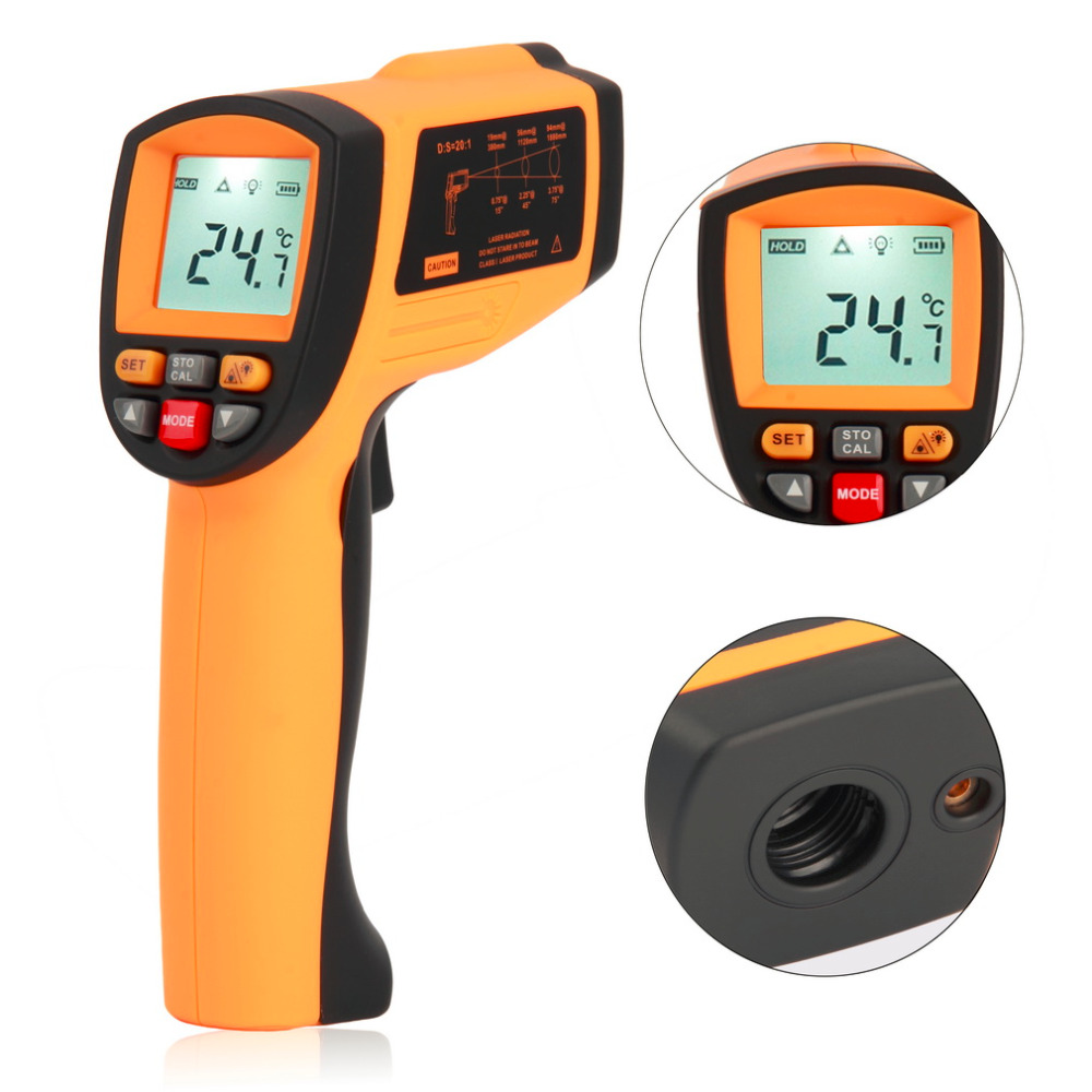 GM1150 Non-Contact Laser LCD Display Digital IR Infrared Thermometer Temperature Meter Gun Point -50~1150 Degree Brand New  цены