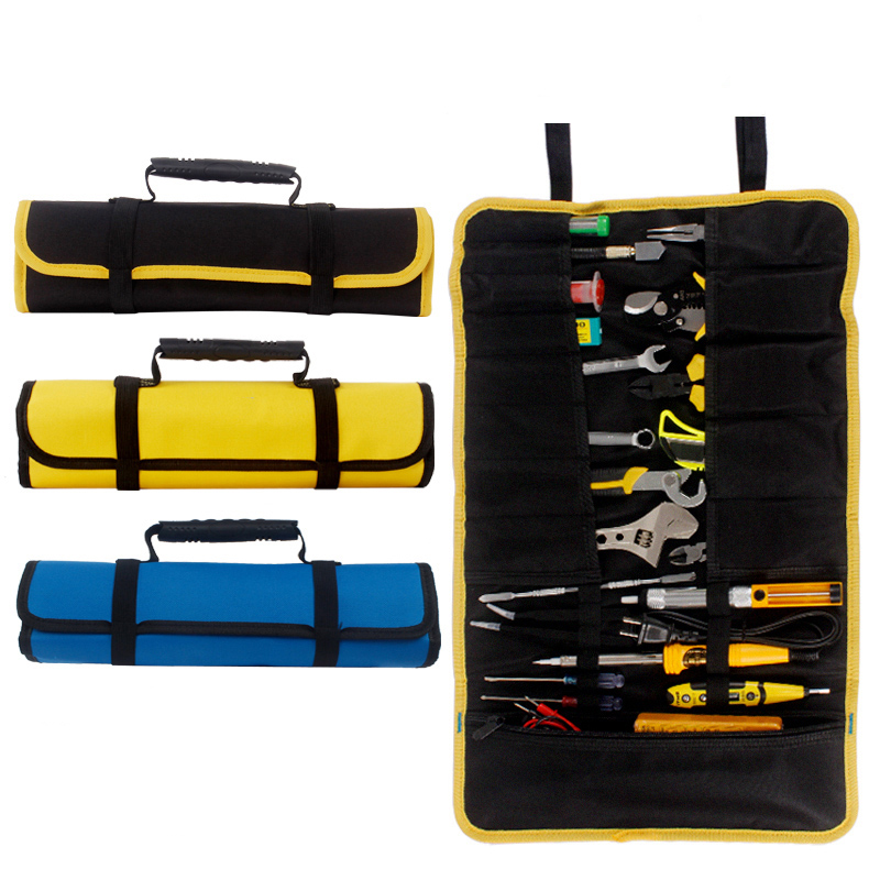 Portable Carrying Handles Oxford Canvas Chisel Roll Storage Pocket Tool Bags Multifunction Tool Bags Tool Instrument Case