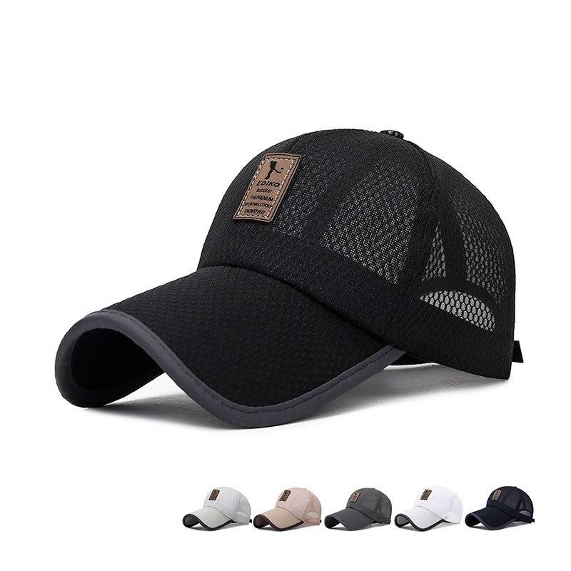 2019 Summer Running Camping Hiking Breathable Mesh Baseball Cap For Women Men Unisex Snapback Bone Sun Hat Bone Casquette Chapeu
