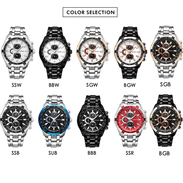 4a1c871445f ... 2018 Top Marca de Luxo completa steel Watch Men Business Casual  Relógios de Pulso de quartzo
