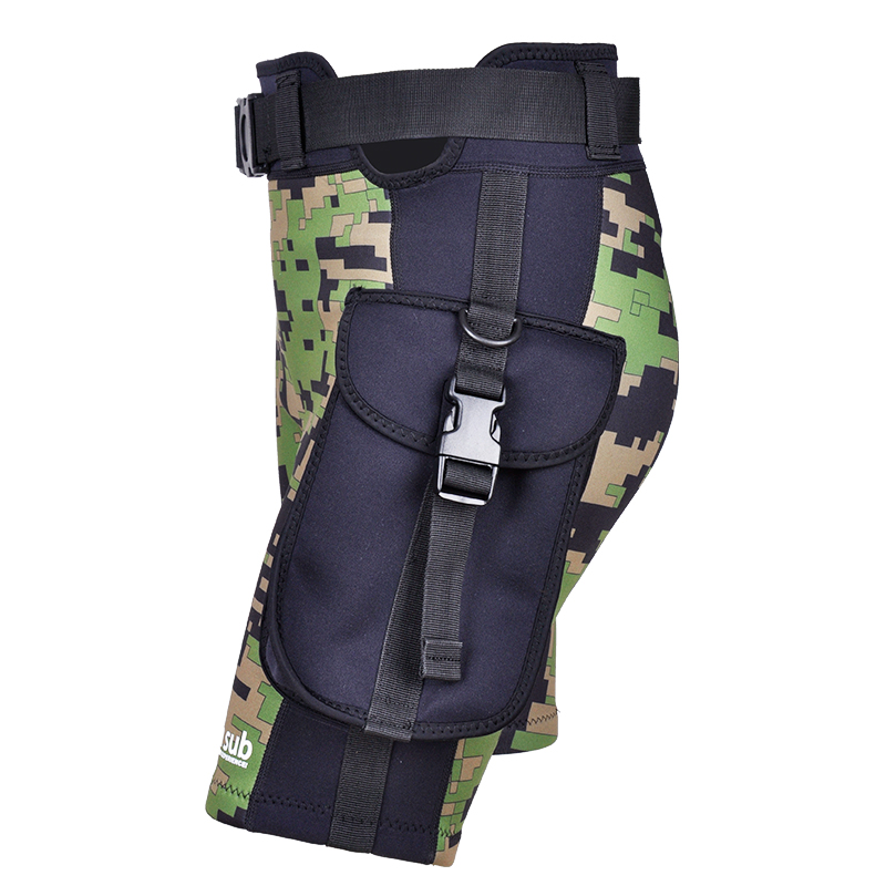 YONSUB Neoprene 2 5mm Diving Surfing Pants Men Submersible Pocket Shorts Technical Diving Shorts Camouflage Swimming