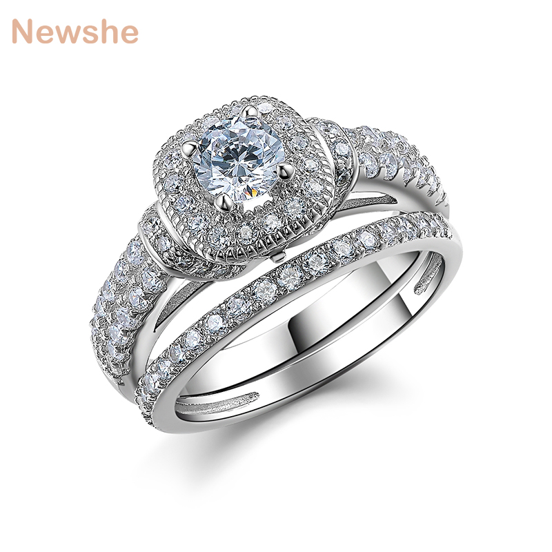 The Best Stylish Jewelry Cubic Zirconia 2.2ct Solid 14k White Gold Engagement Party Ring Bridal & Wedding Party Jewelry