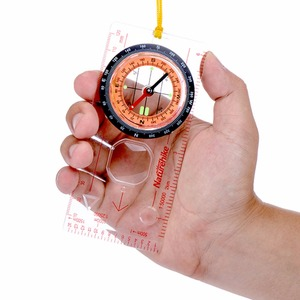 Image 1 - Transparent compass Direction Guide Orienteering Scouts Army Survival Camping Outdoor Hot Sale wholesale