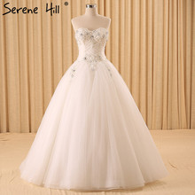 Vestido De Noiva High-end Luxury Wedding Dresses White Diamond Beading Sleeveless Sexy Fashion Bridal Gowns 2017