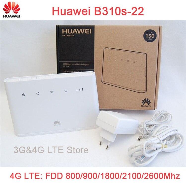 Unlocked Huawei B310 B310s-22 150Mbps 4G LTE CPE WIFI ROUTER Modem with Sim Card Slot new original unlock lte fdd tdd 150mbps huawei e8278 4g modem wifi router with sim card slot and 4g lte usb modem