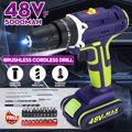 3 в 1 Профессиональная Аккумуляторная дрель 48 В Daul-регулировка скорости светодиодный аккумулятор большой емкости 50 нм 25 + 1 Крутящий момент 28 ...