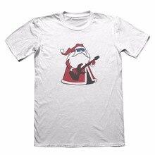 Summer Shirts Tops Cotton Tees Free Shipping Crew Neck Cool Rock Santa Cartoon Short-Sleeve Graphic Mens Tees