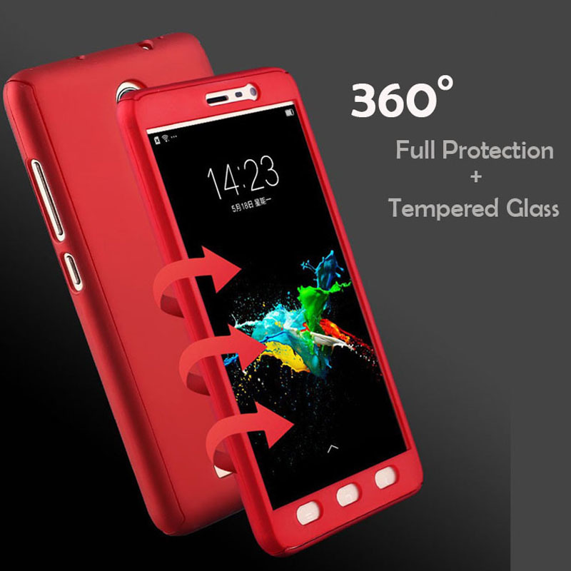 360 Full Body Protection Case For Xiaomi Redmi Note 4 X 4X Pro Hybrid Phone Cover On Xiomi Note4x Global Version +Tempered Glass