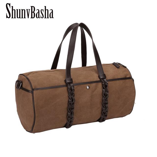 Hombre bolsa de viaje 2015 de gran capacidad de la lona del diseñador cubo recorrido del hombre bolsa Vintage Men bolso del hombre bolsa de mensajero