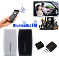 2 in1 Wireless Bluetooth Music Audio Receptor Transmisor FM Coche Bluetooth V4.1 + EDR A2DP Estéreo Bluetooth Receptor de Música