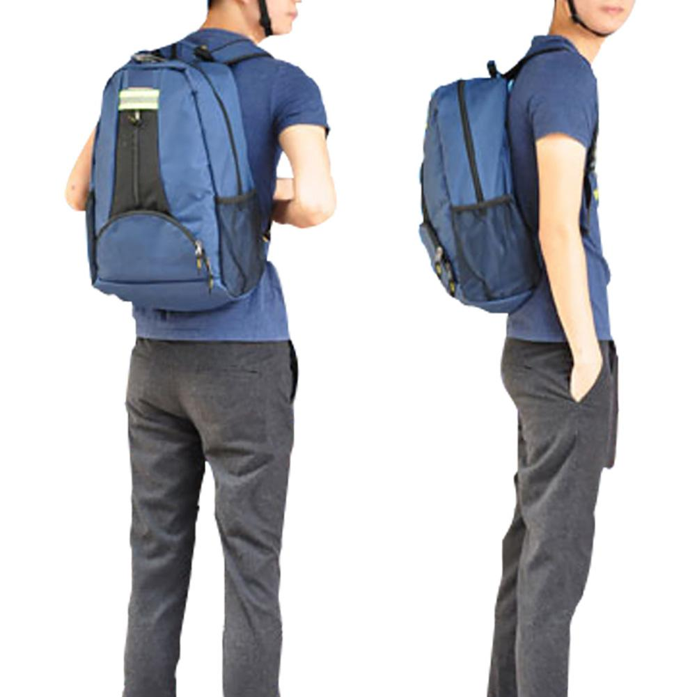 2 Colors Multifunction Shoulder Tool Backpack Thickened Canvas Backpack Electrician Big Capacity Bag For Elevator Repair 1PC J3