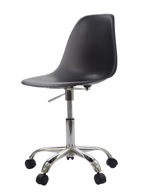 Swivel Office Chair With Wheels Three Legged Antique Modern Design Plastic And Steel Computer 5 Star Wheel Shell Gas Lift