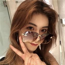 GUANGDU nowe Okulary Cat Eye kobiety óculos metalowe Okulary Przeciws Oneczne Okulary damskie Okulary przeciwsłoneczne UV400 luneta soleil femme 1
