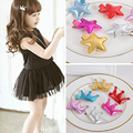 HQ 5Pcs/Lot Children Crown Star Shape Hair Clips Candy Color Children Fashion Hairpin Solid Hair Accessories for Girls XHH04709