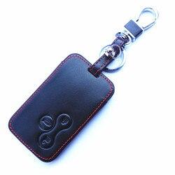 WFMJ Da Thật Chính Hãng Da 3 Nút Chìa khóa Điều Khiển Từ Xa Cover Fob Dành Cho 2003 2004 2005 2006 2007 2008 Renault Megane danh lam thắng cảnh II Clio
