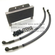 Oil Cooler for refitting horizontal engine below than 110cc monkey bike/dirt pit bike ATV Quad