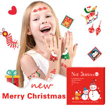 Christmas Tattoo Stickers For Kids Toy Jingle Bells Xmas Temporary Tattoo Paper Halloween Festival Nail Stickers Child Body Arm(China)