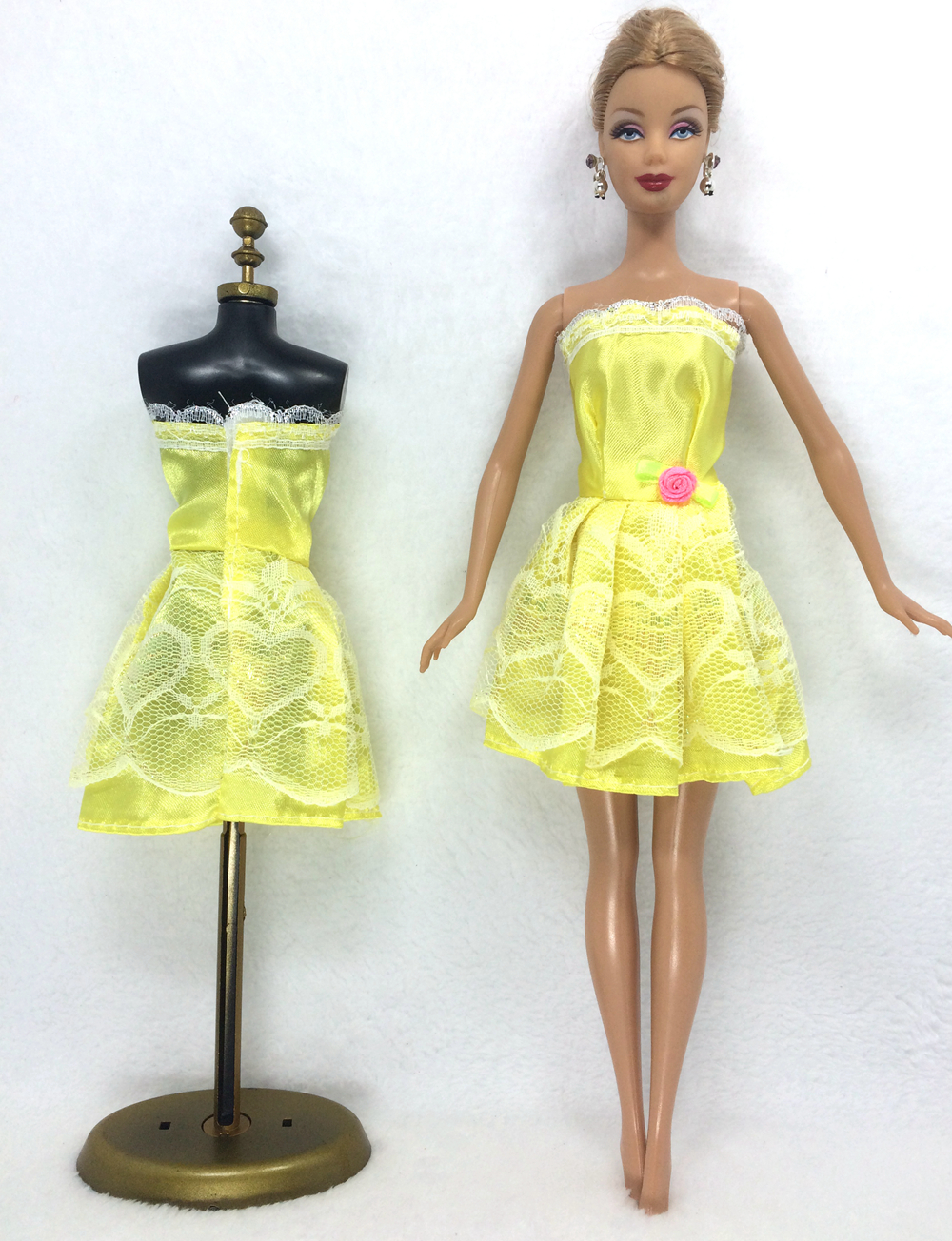 NK One Set Outfit Handmade Trend Quick Costume For Barbie Doll Costume Child Lady Birthday new yr Greatest Current for teenagers 055A