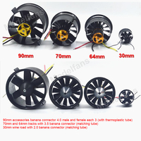 QX MOTOR EDF 30mm/64mm/70mm/90mm with 2822/1611/2827/3530 Brushless Motor For DIY Drone RC Airplain Model