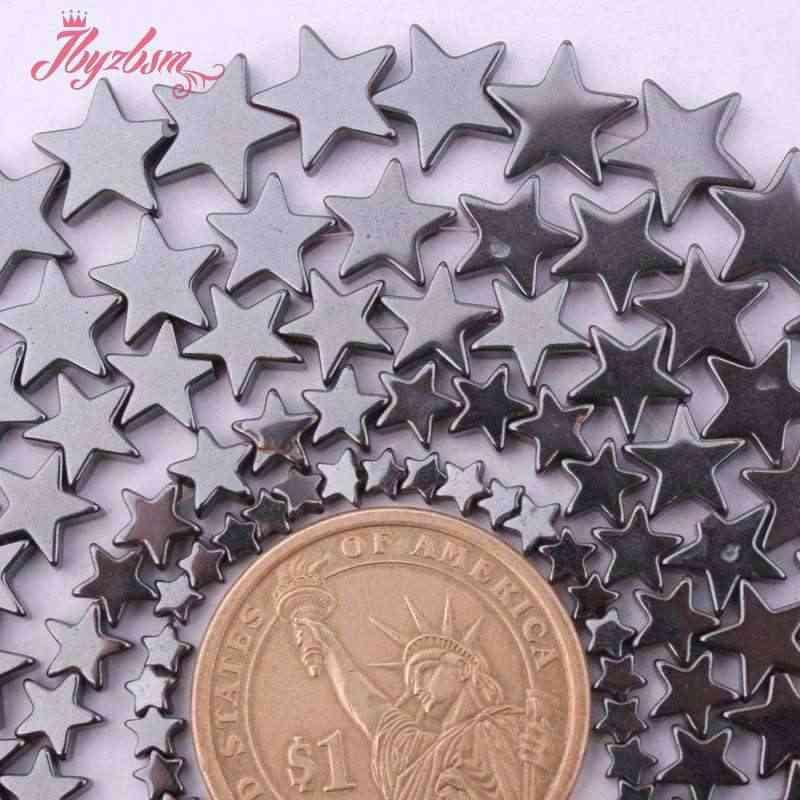 """4,6, 8,10mm naturalna gwiazda hematyt (bez magnetycznego) kamień koraliki Spacer Strand 15 """"dla naszyjnik tworzenia biżuterii, hurtownie darmowa wysyłka"""