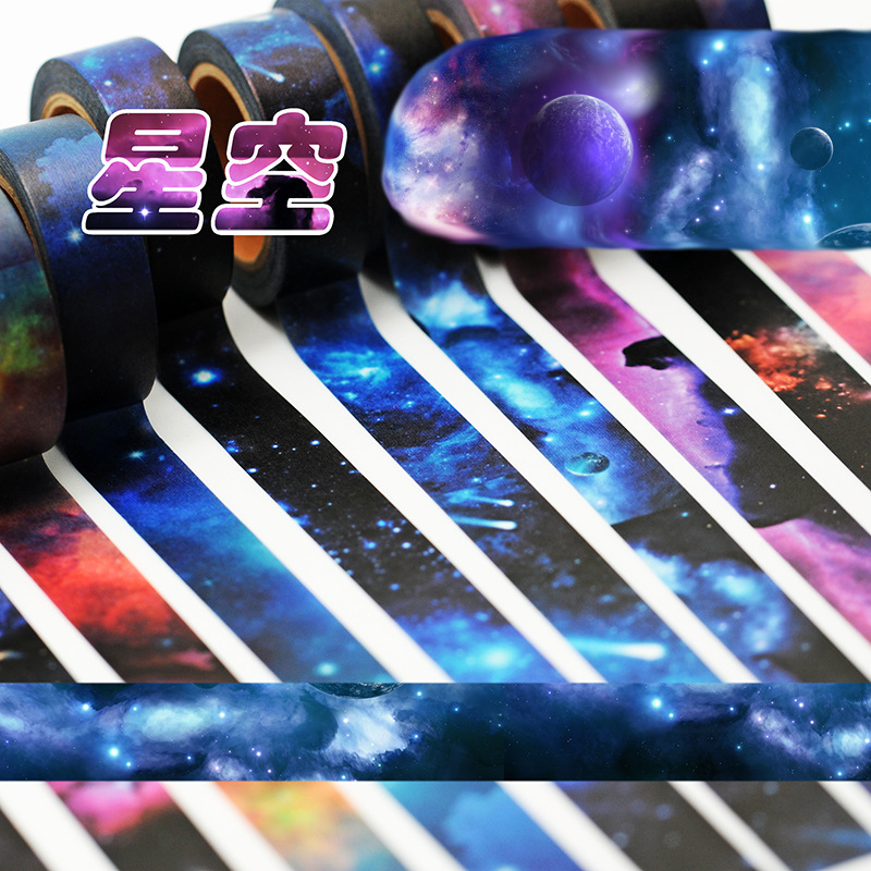 1.5 cm Wide New Starry Sky Washi Tape Adhesive Tape DIY Scrapbooking Sticker Label Masking Tape все цены