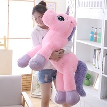85 cm/100 cm לבן Unicorn בפלאש צעצועים ענק Unicorn ממולא בעלי החיים סוס צעצוע רך Unicornio Peluche בובת מתנה ילדי אבזרי תמונה