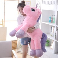 85cm/100cm White Unicorn Plush Toys Giant Unicorn Stuffed Animal Horse Toy Soft Unicornio Peluche Doll Gift Children Photo Props