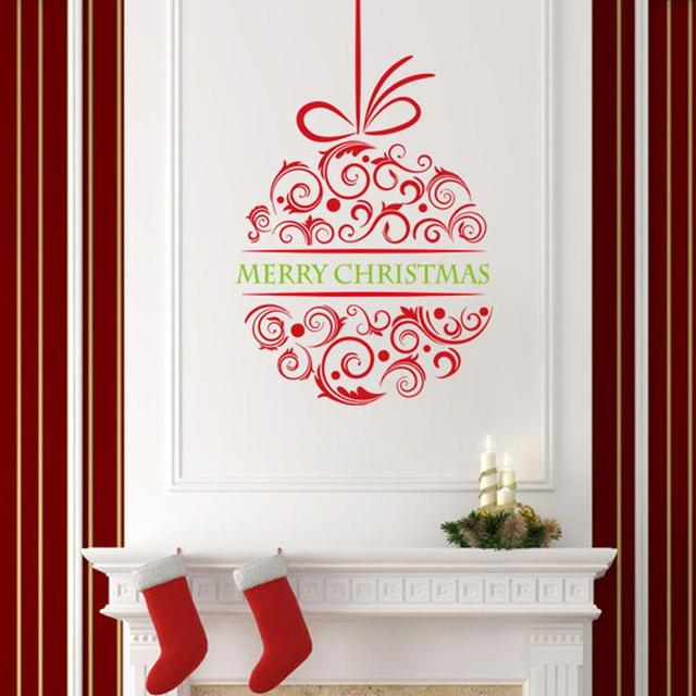 Merry Christmas Wall Stickers Christian Room Home Decorations Flower Diy  Vinyl Xmas Decals Festival Mual Art
